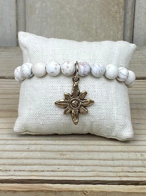 Beaded Bracelet with Charm