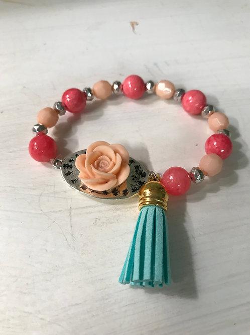 Flower Beaded Bracelet