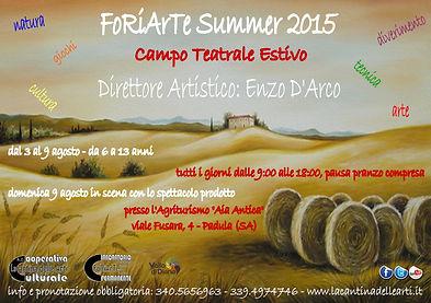 FoRiArTe Summer 2015