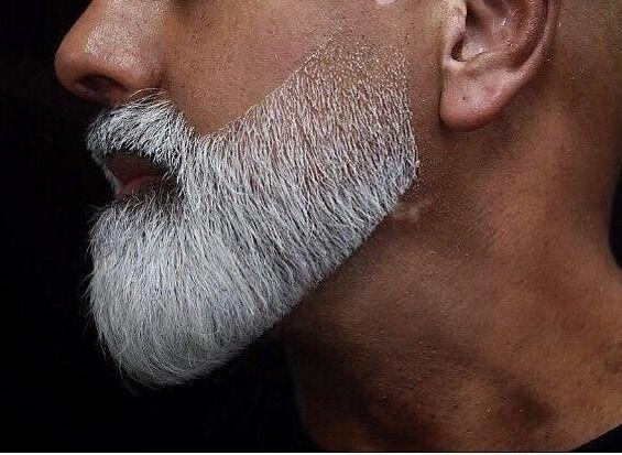 Beard trim defining beard lines
