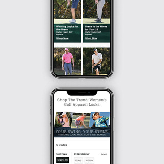 Golf Softlines: Mobile