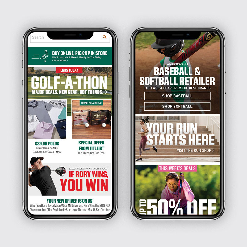 DICK'S Homepage: April Mobile