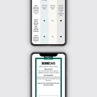 Score Rewards Benefits Charts: Mobile