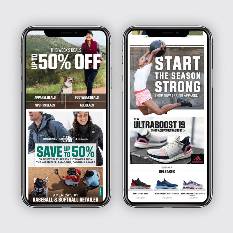 DICK'S Homepage: February Mobile