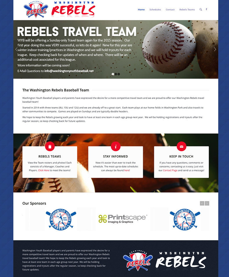 Washington Rebels Baseball: Homepage