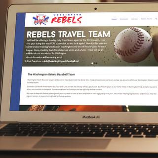 Washington Rebels Baseball: Mockup