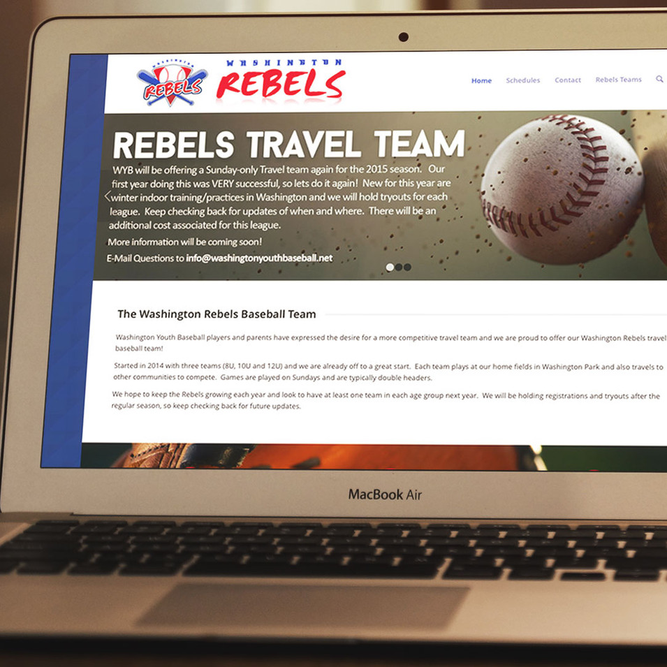 Washington Rebels Baseball: Mockup
