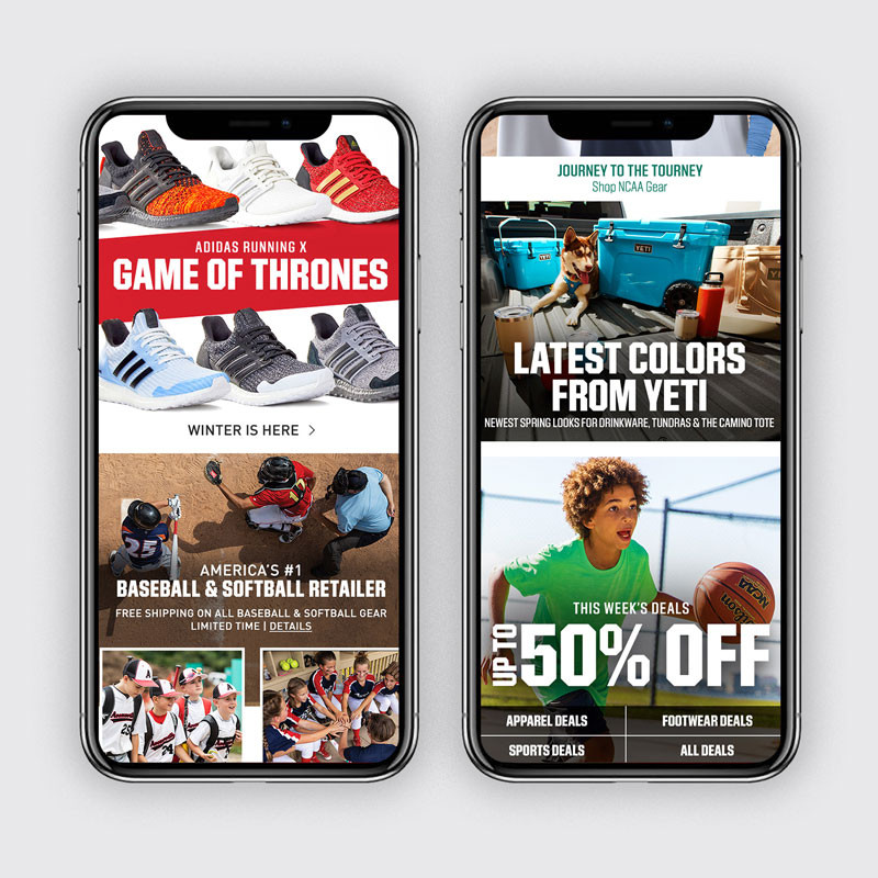 DICK'S Homepage: March Mobile