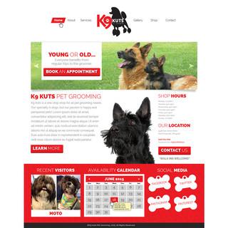 K9 Kuts: Homepage Layout