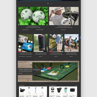 Golf Galaxy Homepage: Desktop