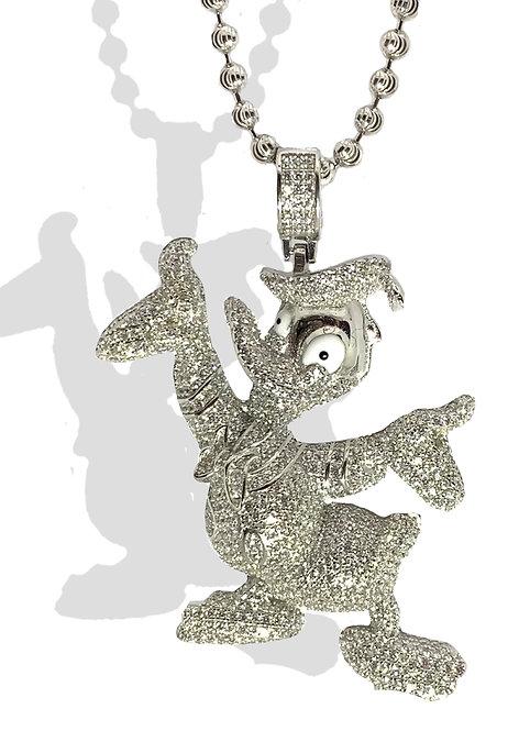 .925 Silver Donald Duck Pendant