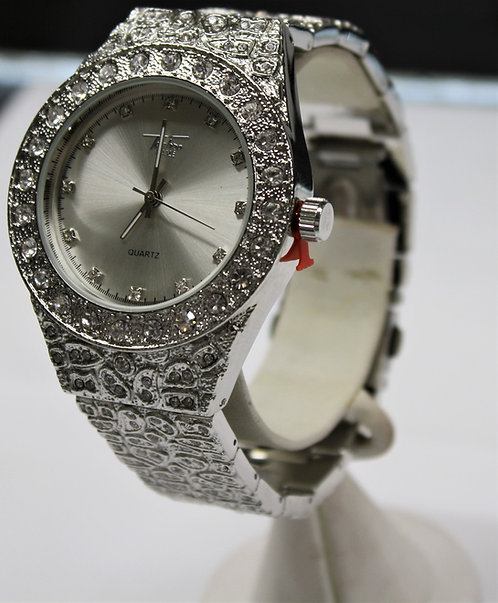 Silver Bust Down Techno Pave