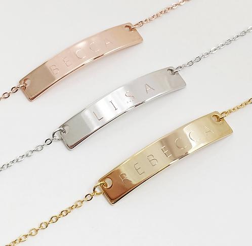 Custom Name Bar Bracelet