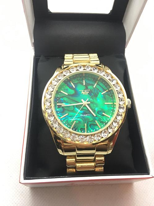 Gold Techno Pave Watch