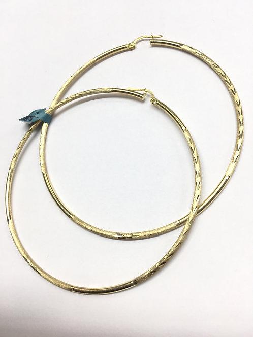 10 Karat Yellow Gold Large Hoop Earings