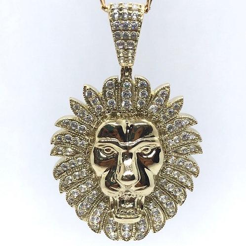 10 Karat Yellow Gold Lion Pendant
