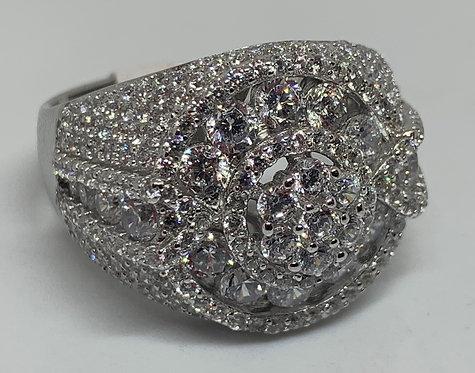 Iced Out Custom Flower Ring