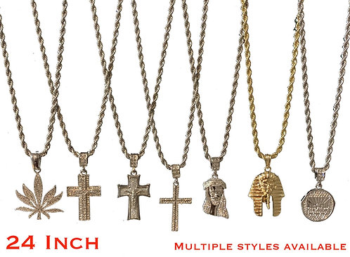 24in Plated Rope Chain DIFFERENT STYLES AVAILABLE