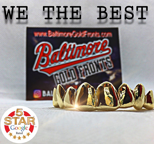 6 Piece Gold Grillz 10k Most Styles SAVE $30