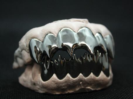 Black Piranha Teeth Custom Grillz