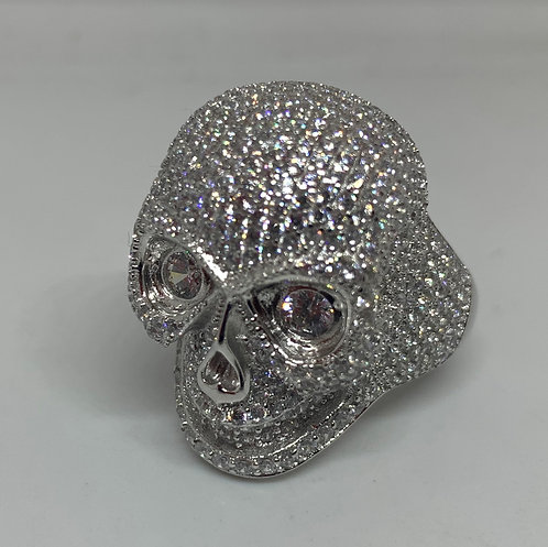Iced Out Skull Ring