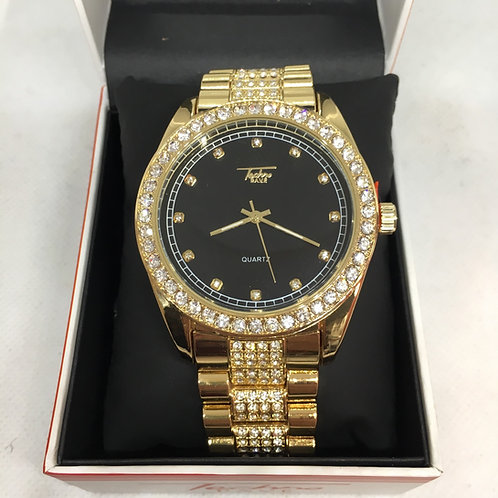 Gold Techno Pave Watch