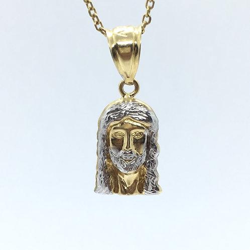 10 Karat Yellow Gold Jesus Pendant