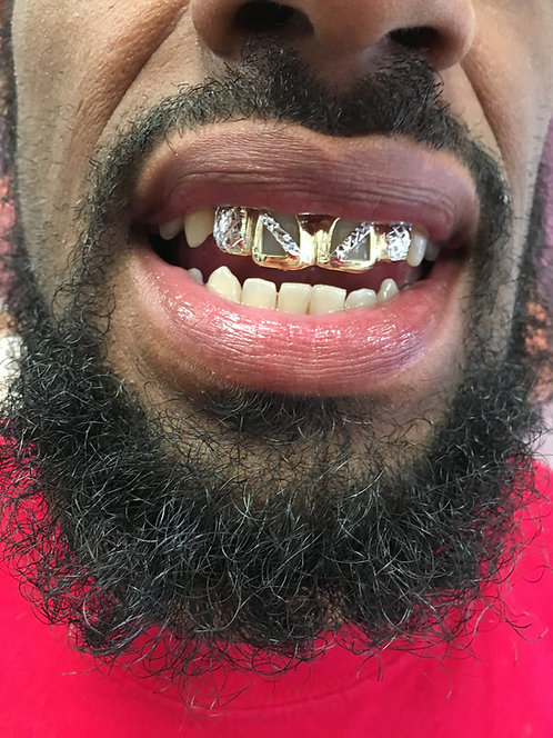 4 Piece Gold Grillz 10k Most Styles Save Over $20