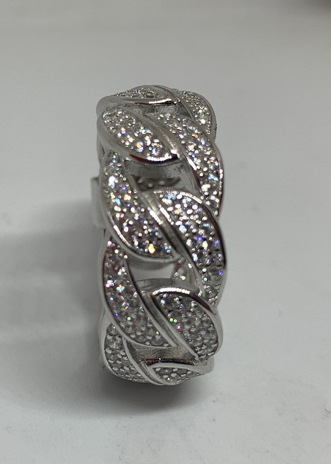 Iced Out Cuban Link Ring
