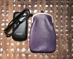PHONE / GLASSES CASE PURPLE