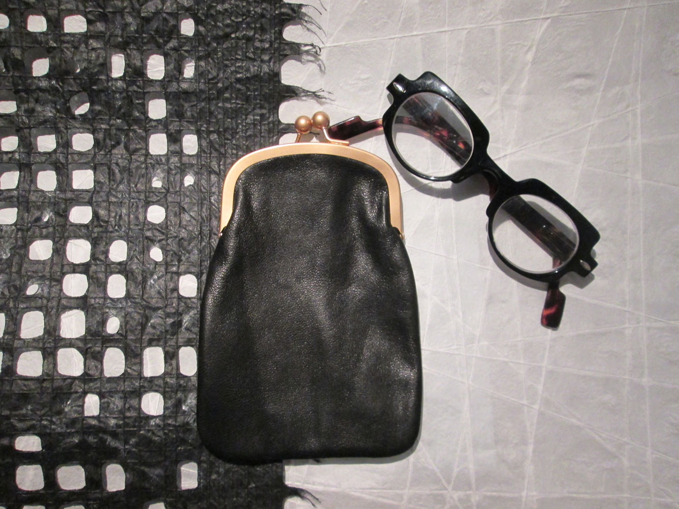 PHONE / GLASSES CASE BLACK