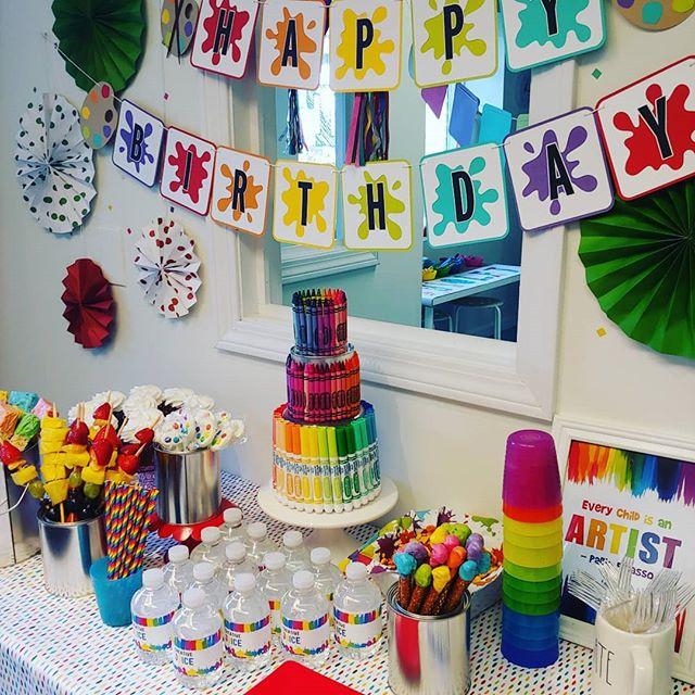 A colorful celebration for a creative 7