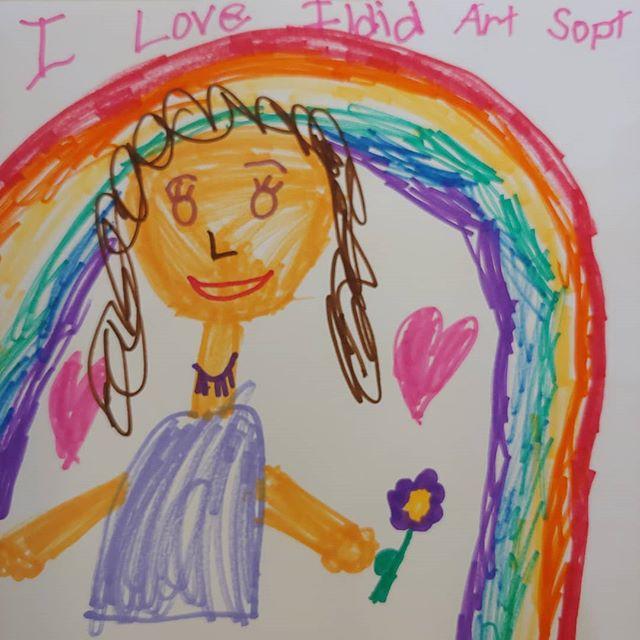 Self portrait by Laurel, age 7