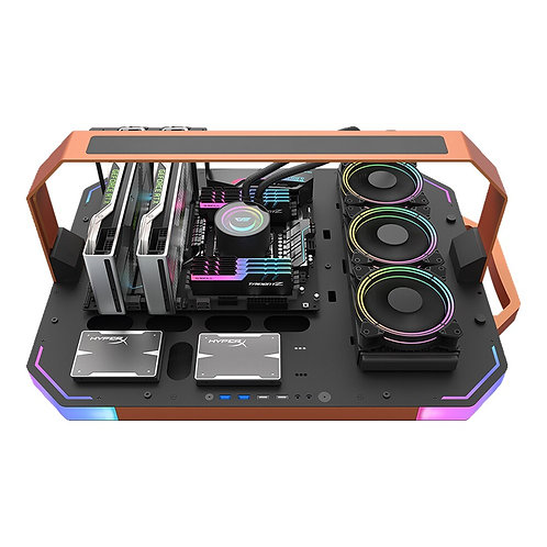Bladex Open Frame Gaming Desktop Computer Case Pc Gamer  ARGB Lighting Pc Case