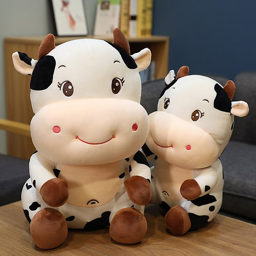 25-55cm New Plush Cow Toy Cute Cattle Plush
