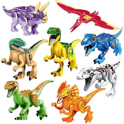 8 Types Colorful Jurassic