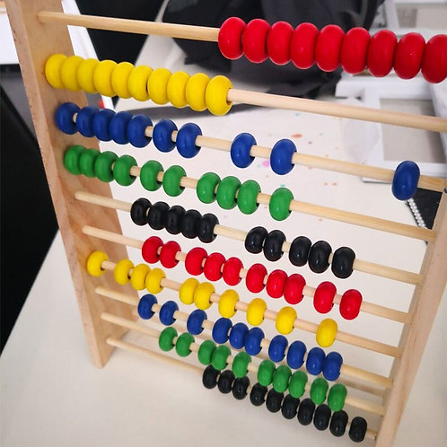 Montessori Child Wooden Abacus Toys Early Math