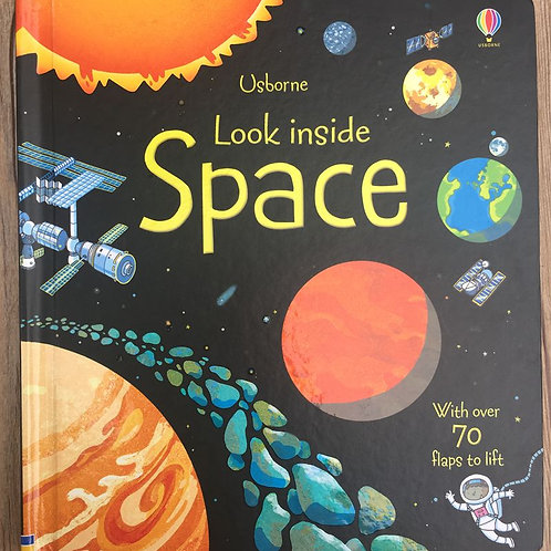 Britain English 3D Usborne Look Inside Space Picture Book  Child With Over 70