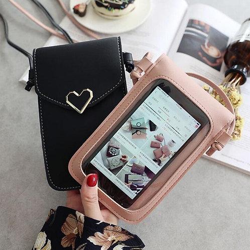 Universal Leather Phone Bag Shoulder Pocket Wallet