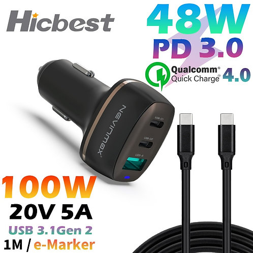 48W PPS PD Car Charger for Samsung S20 Note 20