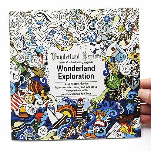 1 PCS New 24 Pages English Version Wonderland Exploration Coloring Book Art