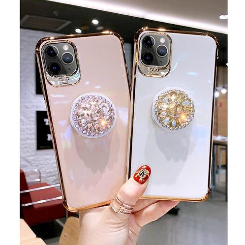 Luxurious Rhinestone Originality Bracket Phone Cases for IPhone