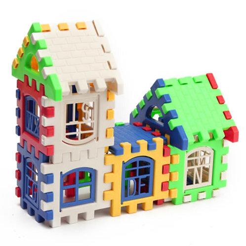 24pcs Building Blocks Kid House Building Blocks