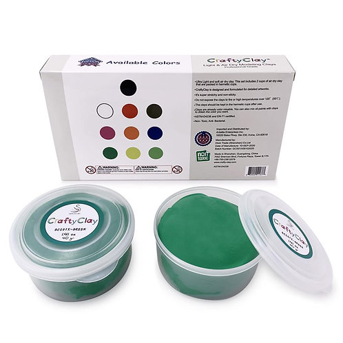 GCS01X-GREEN REFILL Air Dry Clays by CRAFTYCLAY