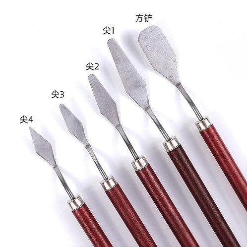 5Pcs/Set Stainless Steel Spatula Kit Palette