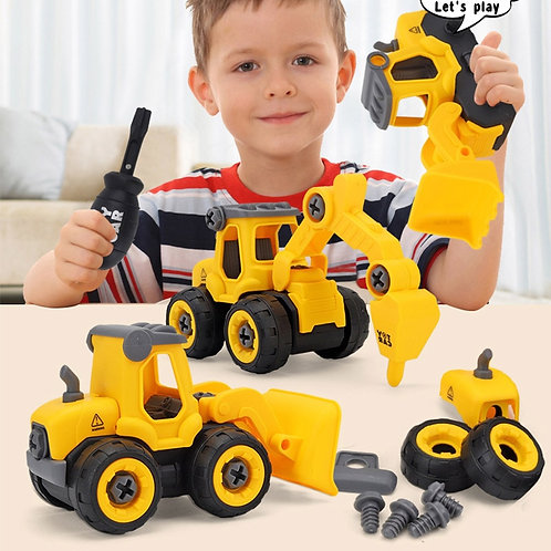 Children's Puzzle DIY Disassembly Engineering Car