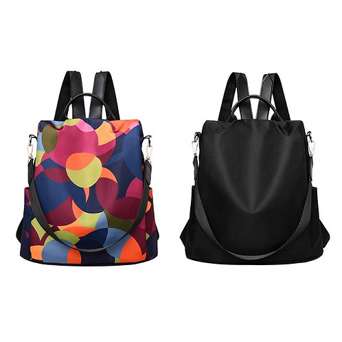 Female Anti-Theft Backpack Waterproof Oxford