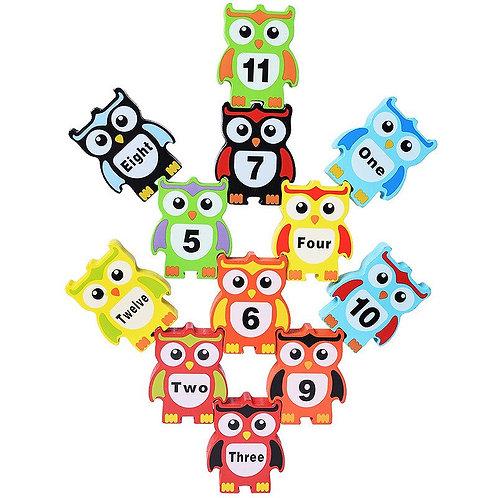 Children Montessori Wooden Animal Balance Blocks