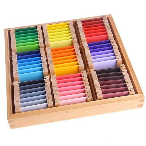 Montessori Sensorial Material Learning Color Tablet Box 1/2/3