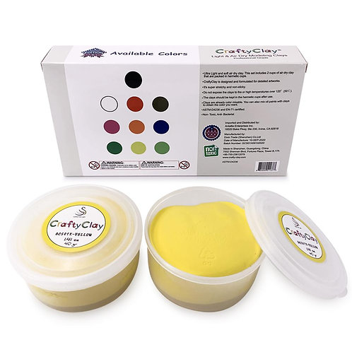 GCS01X-YELLOW REFILL Air Dry Clays by CRAFTYCLAY